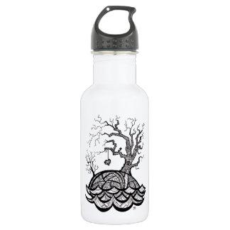 Reizender Hügel-verwickelte Herz-Baumillustration Trinkflasche