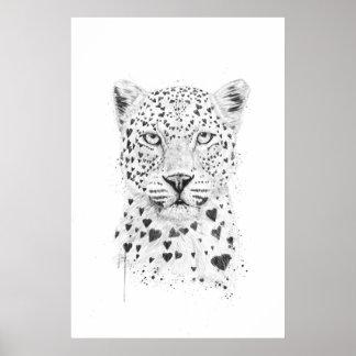 Reizender Leopard Poster