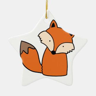 Reizender roter Fuchs Keramik Stern-Ornament