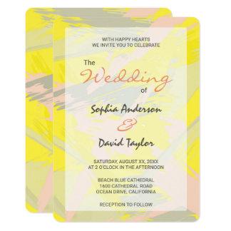 Reizender Sommer-abstrakte Hochzeits-Karte Karte