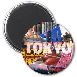 Reizender Tokyo-Runde Magnet