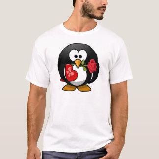 Reizender Valentinsgruß-Pinguin T-Shirt