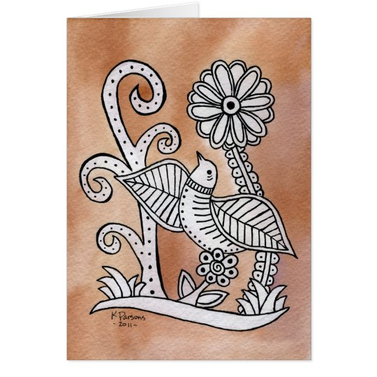 Reizender Vogel, mexikanische Barken-Art Grußkarte