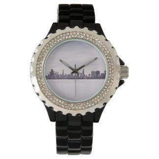 reizender Winter Chicago - die Uhr der Frauen