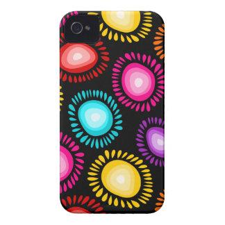 Reizendes buntes funky Blumen BlackBerry-mutiger iPhone 4 Case-Mate Hülle