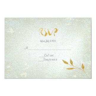 Reizendes Goldfolien-Goldc$blatt-effekt UAWG 8,9 X 12,7 Cm Einladungskarte