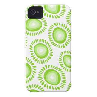 Reizendes grünes funky Blume BlackBerry-mutiger iPhone 4 Cover