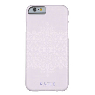 Reizendes Lavendel-u. Spitze-Monogramm Barely There iPhone 6 Hülle
