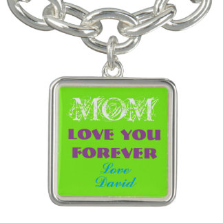 Reizendes Monogramm-Charme-Armband für Mamma Charm Armband