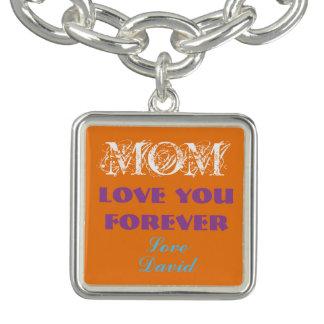 Reizendes Monogramm-Charme-Armband für Mamma Charm Armbänder
