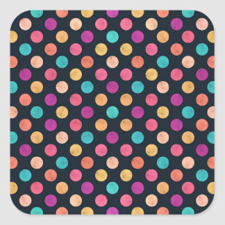Reizendes Punkt-Muster II Quadratischer Aufkleber
