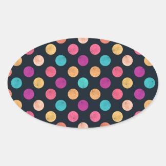 Reizendes Punkt-Muster Ovaler Aufkleber