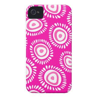 Reizendes rosa funky Blumen BlackBerry-mutiger iPhone 4 Case-Mate Hülle