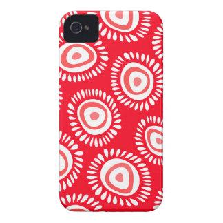 Reizendes rotes funky Blumen BlackBerry-mutiger iPhone 4 Hülle