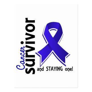 Rektaler Krebs-Überlebender 19 Postkarte