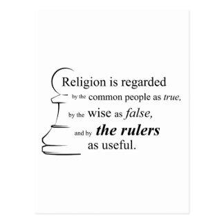 Religion ist nützlich postkarte