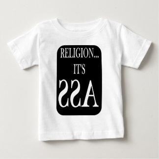 Religion ist rückwärts baby t-shirt