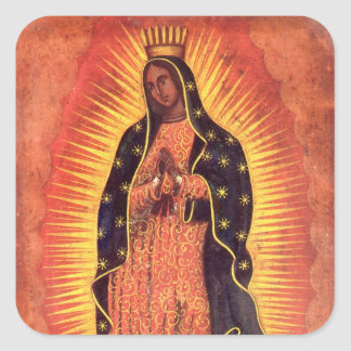 Religion vintage, Madame de Guadalupe, Vierge Sticker Carré