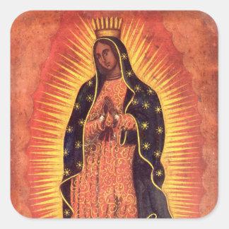 Religion vintage Madame de Guadalupe Vierge Mari Autocollants