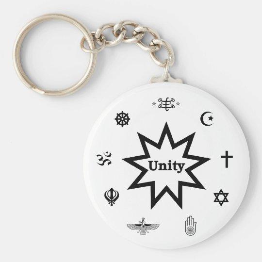 Religiöse Einheit Standard Runder Schlüsselanhänger