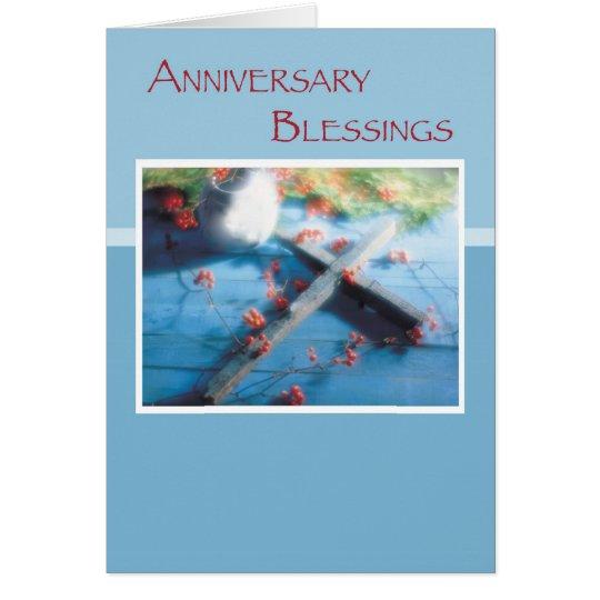 Religiöser Jahrestags-Segen Grußkarte