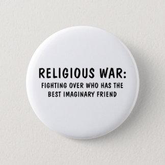 Religiöser Krieg Runder Button 5,1 Cm