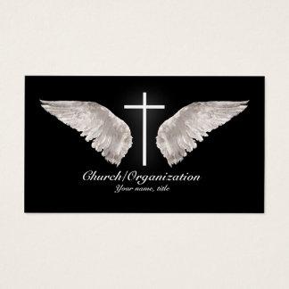 Religiöser weißer Querengel Wings Visitenkarte