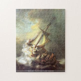 Rembrandt - Christus im Sturm auf See Genezareth p