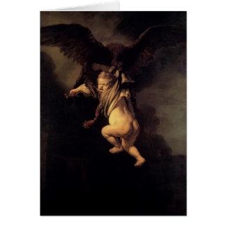 Rembrandt die Abduktion von Ganymede Grußkarte