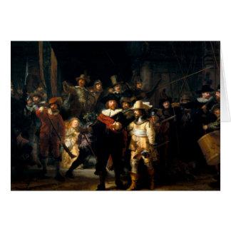 Rembrandt die Nachtwache-Gruß-Karte Karte