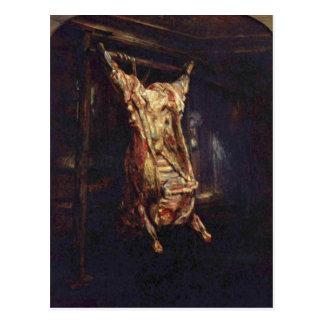 Rembrandt Harmensz. van Rijn Geschlachteter Ochse Postkarte