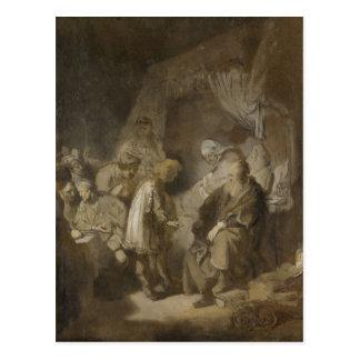 Rembrandt, Joseph, der seinen Träumen sagt Postkarte