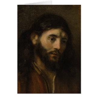 Rembrandt-Kopf von Porträts Christus CC0924 Jesus Grußkarte