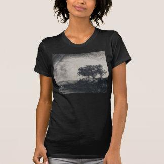 Rembrandt-Kunst-Malerei-Landschaft T-Shirt