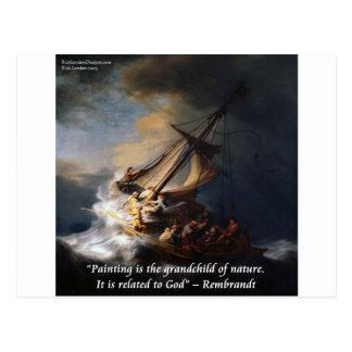 Rembrandt-Meer von Galiläa- u. Natur-Zitat Postkarte