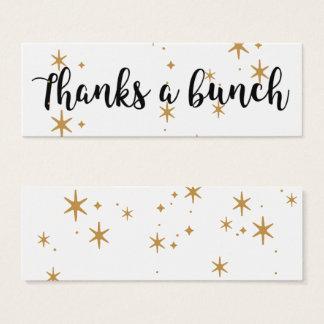 Remercie des étoiles d'un or de groupe arrosées mini carte de visite