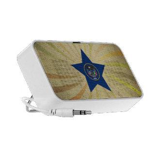 Remous vintage de drapeau d'Utahn Haut-parleurs Mp3