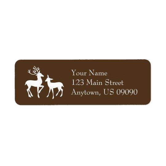 Ren-Adressen-Etiketten (Brown)