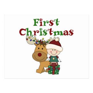 Ren-erste WeihnachtsT - Shirts und -geschenke Postkarte