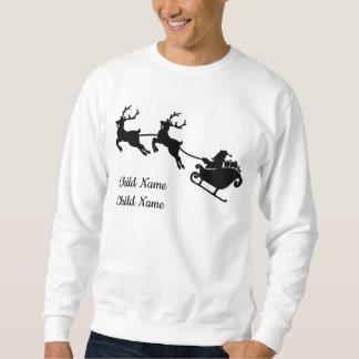 Ren-kundenspezifisches WeihnachtsSweatshirt Sankt Sweatshirt
