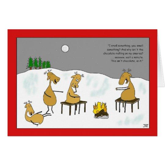 Ren Smores Weihnachtskarte Karte