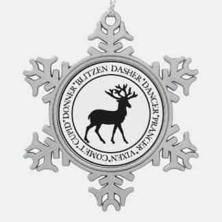 Ren-Verzierung Schneeflocken Zinn-Ornament