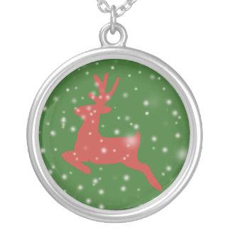 Ren-Weihnachtsgroßes Silber überzogen ringsum Versilberte Kette