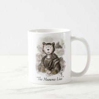 Renaiisance Katze Meowna Lisa Malerei Kaffeetasse