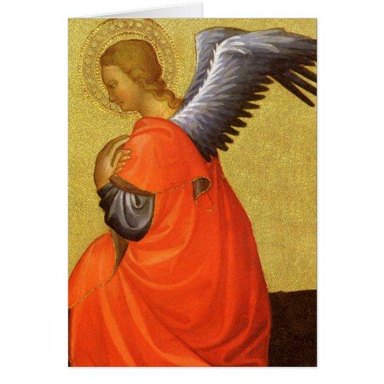 Renaissance-Engel durch Meister des Bambino Vispo Grußkarte