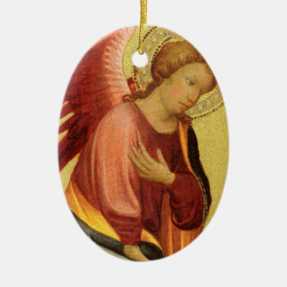 Renaissance-Engel durch Meister des Bambino Vispo Ovales Keramik Ornament