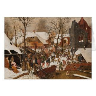 Renaissance-heilige Geburt Christi Karte