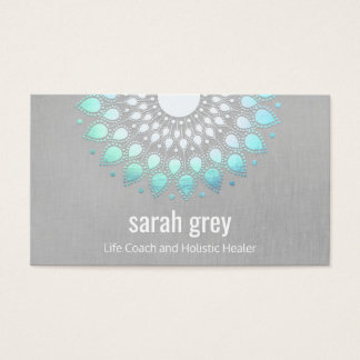 Rendez-vous holistique floral bleu de santé de cartes de visite