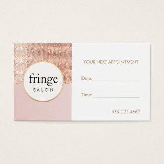 Rendez-vous rose et rose de salon de beauté de cartes de visite