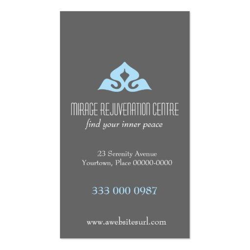 Rendez-vous serein de bleu de salon modèle de carte de visite
